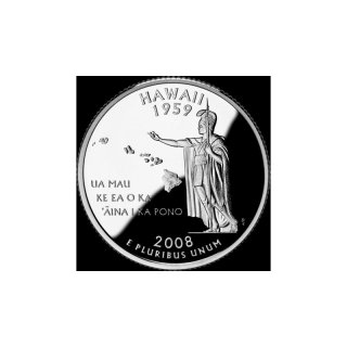 25 Cent / Quarter USA 2008 D Hawaii