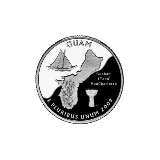 25 Cent / Quarter USA 2009 D Guam