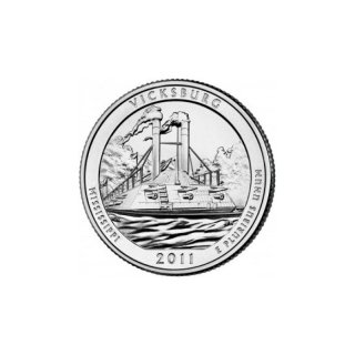 25 Cent / Quarter USA 2011 D Vicksburg