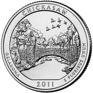 25 Cent / Quarter USA 2011 P Chickasaw