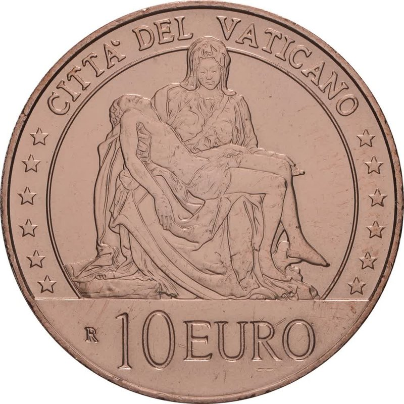"10 Euro Kupfer Vatikan 2020 UNC""Kunst und Glaube - La ..."